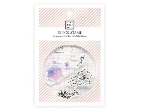 MU floral clear stamps