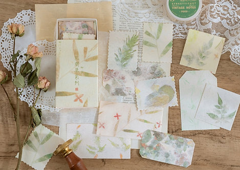 Watercolor Leaves Papers in Box