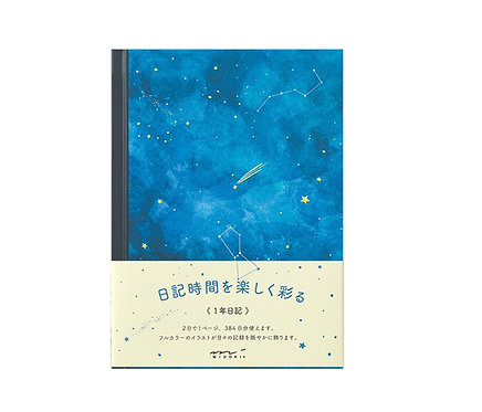 Midori Journal Notebook Diary Night Sky
