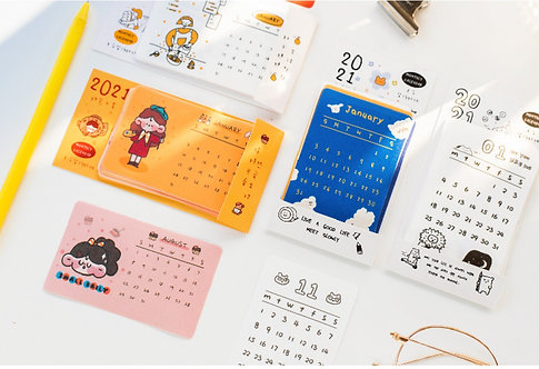 Small Monthly Calendar 2021 Stickers