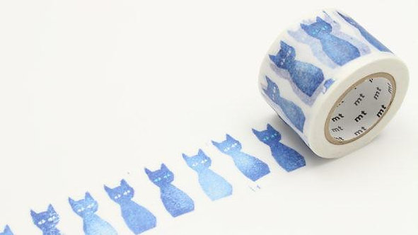 mt x mina perhonen ao-neko masking tape (35mm)
