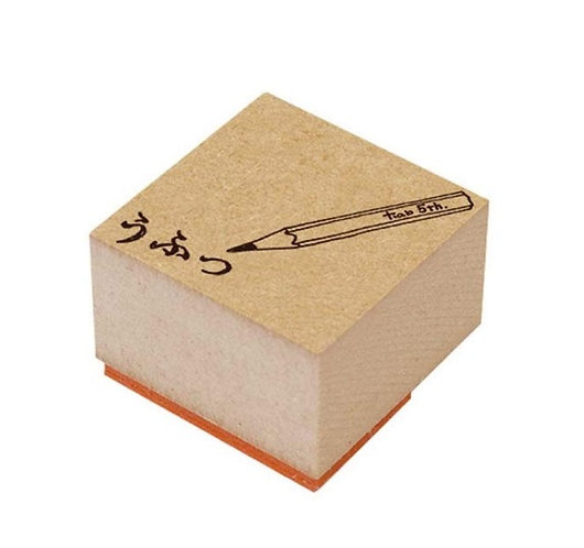 pencil rubber stamp