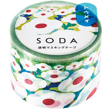 SODA Transparent Masking Tape - Flower Garden CMT30-007