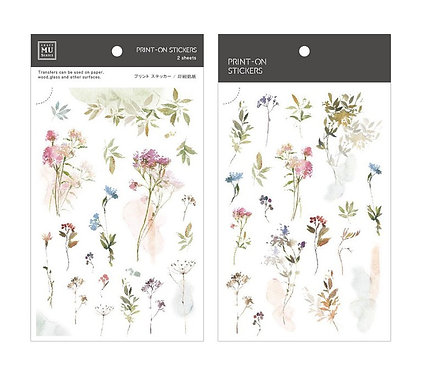 MU Print-On Sticker - Watercolor Flowers 159
