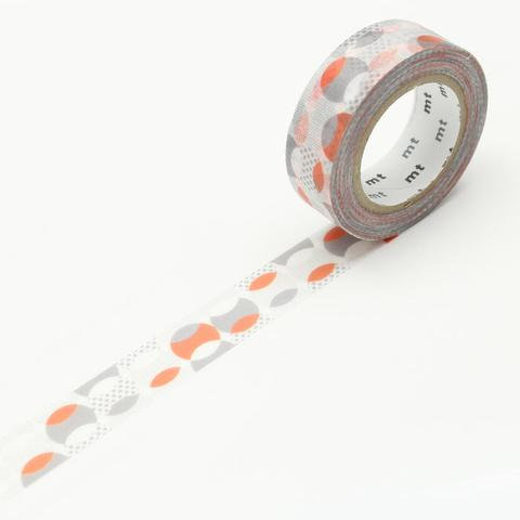 mt DECO Overlapped Dot Orange masking tape