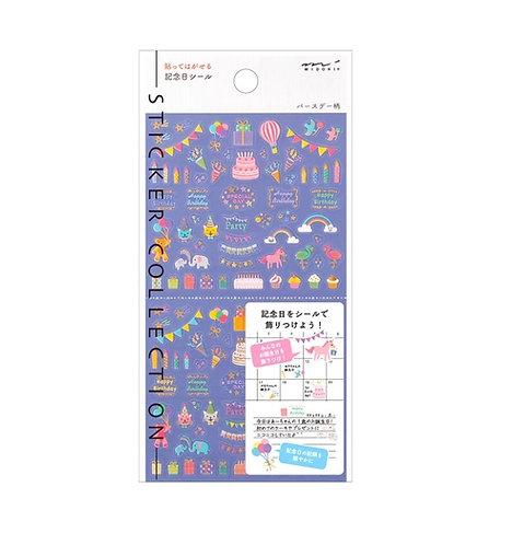 midori stickers, party