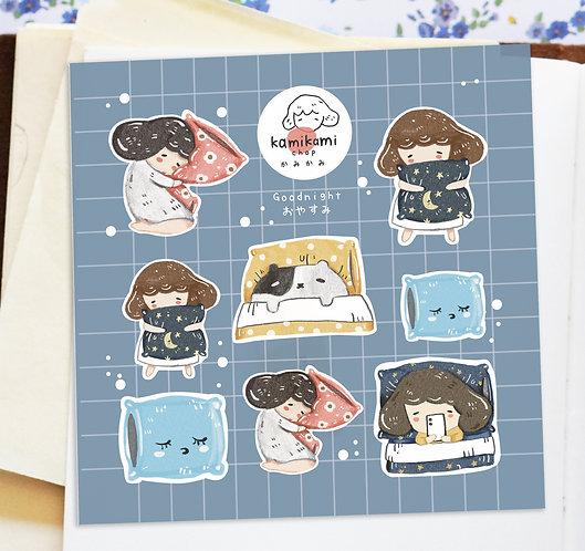 Kami Kami Chop Stickers - Good Night