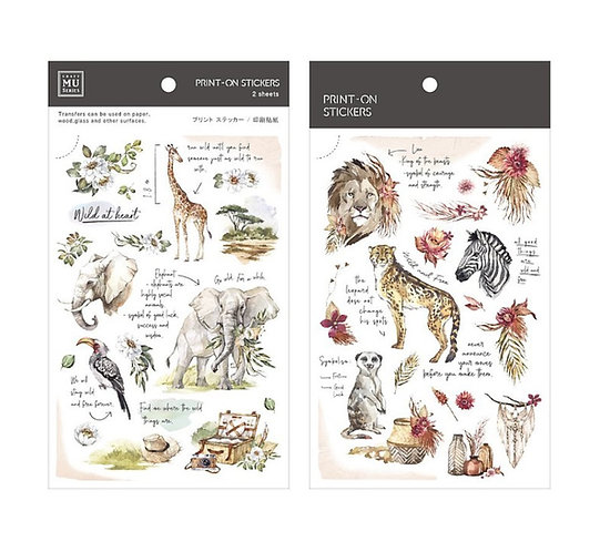 MU Print on stickers wild animals 148