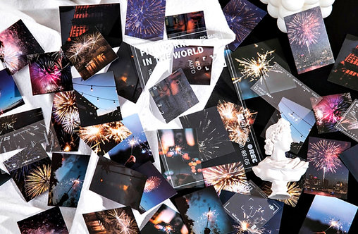 Fireworks In The World PET Stickers Pack
