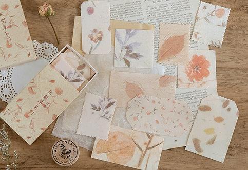Vintage Watercolor Flower Papers in Box