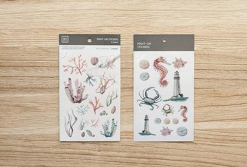 MU Print-On Sticker - Under The Sea 024