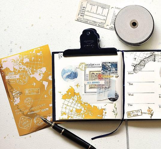 MU Gold Foil Print-On Sticker - Postal Stamp 06