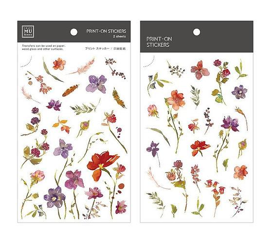 MU Print-On Sticker - Bloom Flowers 158