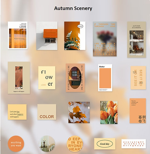 Autumn Scenery Sticker Flakes Pack