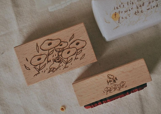 big hands rubber stamp feel the wind