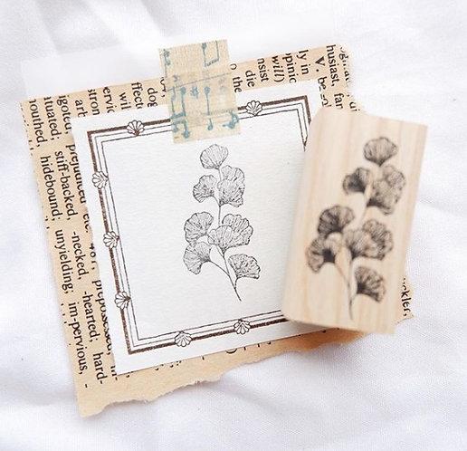Laabiri Gingko Rubber Stamp