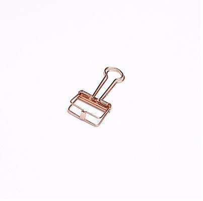 Binder Clips - Small, Rose Gold