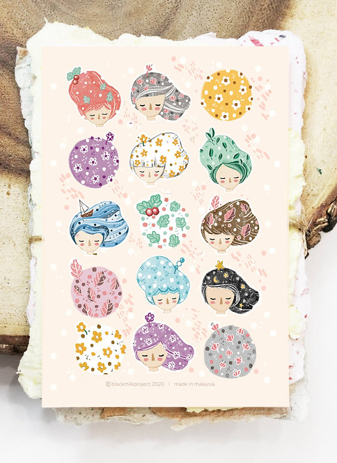 Black Milk Project Stickers - Whimsy Hair