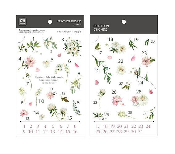 MU Print-On Sticker - Date Happiness 168