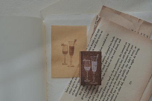 Jieyanow Atelier Slow Living Champagne Rubber Stamp