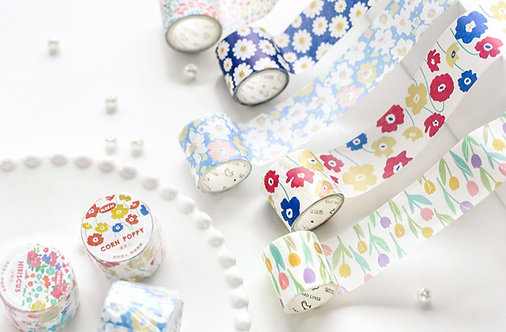 Variety Floral (30mm) Washi Tapes / Masking Tapes