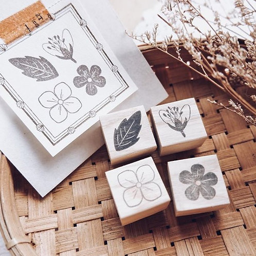 Laabiri Flora Rubber Stamp Set
