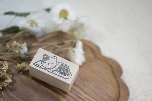 Black Milk Project Rubber Stamp -Engawa Cat in Futon