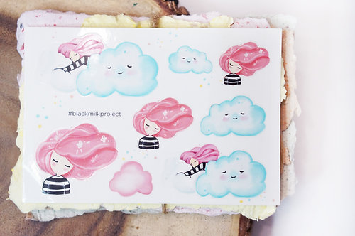 Black Milk Project Mini Stickers -Dream Clouds