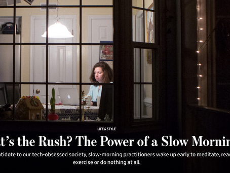 What's the Rush? The Power of Slow Mornings