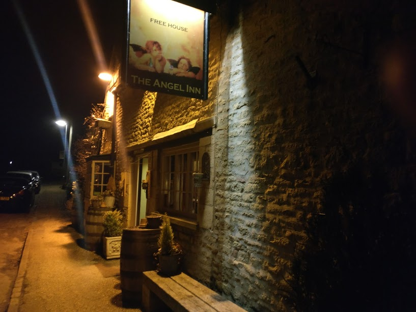 pub  outside in dark