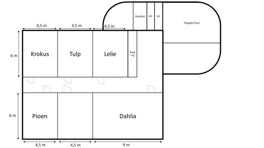 Plattegrond kamers