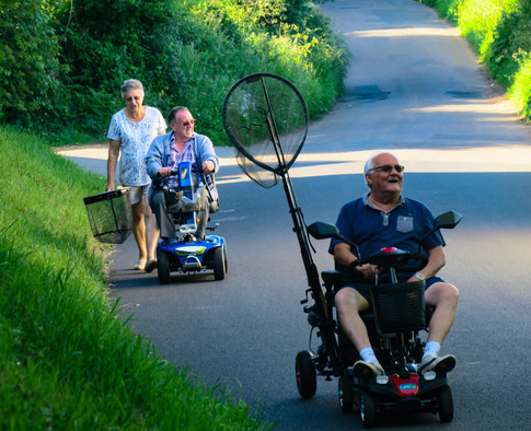 Alverstone ponds veterans returning home to roost after a long days fishing