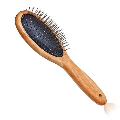 Escova de Pinos para Pelos Bambu - G