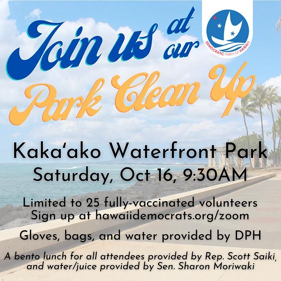 Kakaʻako Waterfront Park Clean Up