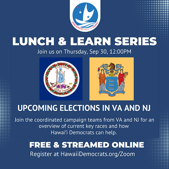 Lunch & Learn: Upcoming Elections in VA & NJ