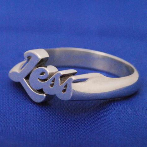 anillo plata personalizado