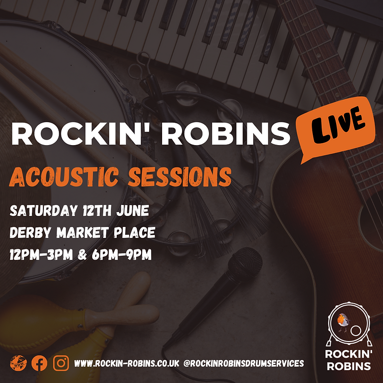Rockin' Robins LIVE - Acoustic Sessions at Derby Market Place