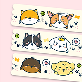 cute dog puppy washi tape