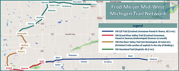 Fred Meijer Mid-West Michigan Trail Network Map