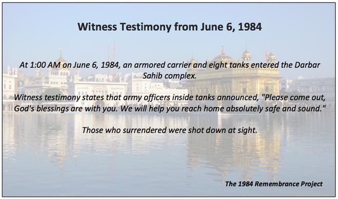 Witness Testimony from June 6, 1984