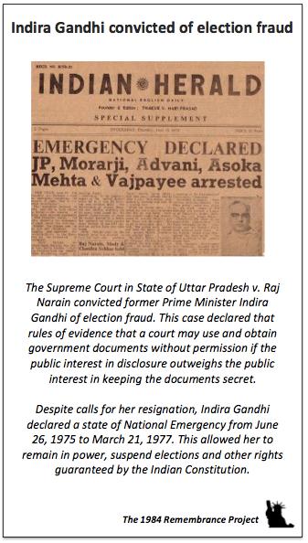 Indira Gandhi convicted of election frau