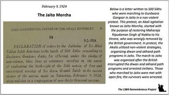 The Akal Takht Jathedar writes a letter
