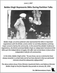 During Partition talks, Sikh representat
