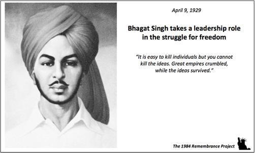 April 8, 1929 -- Bhagat Singh takes a le