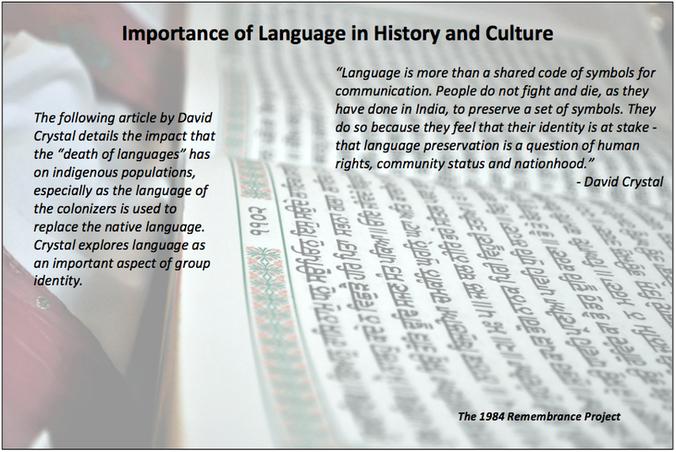 Linguist David Crystal explores the inte