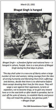 A rare photo of Bhagat Singh during his