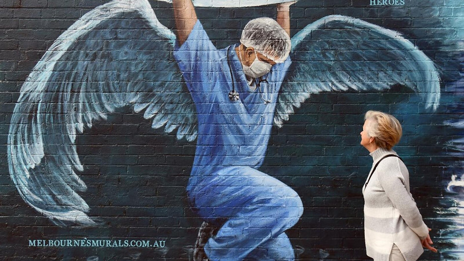 Corona warrioirs, a mural appeared in Australia in May 2020.