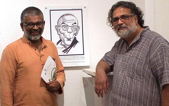 Author Sethu Das with Tushar Gandhi, great-grandson of Mahatma Gandhi, father of the Nation. (Photo: Prince Prabhakaran)
