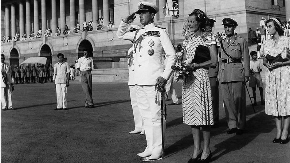 Lord Louis Mountbatten and Eswina Mountbatten in India.