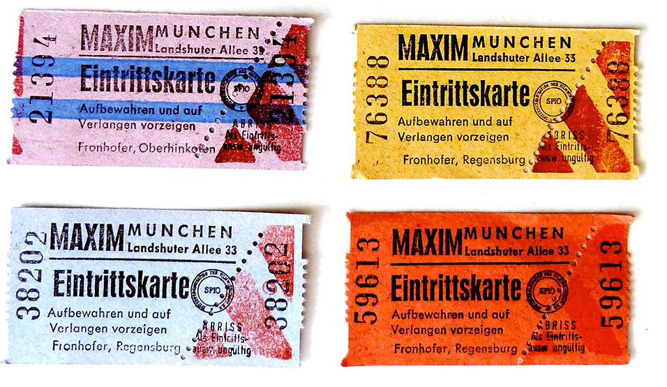 The Maxim entry tickets